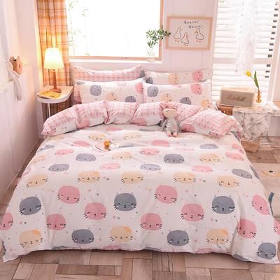 2021新品-13372活性印花四件套 1.5m床单款四件套 小奶猫