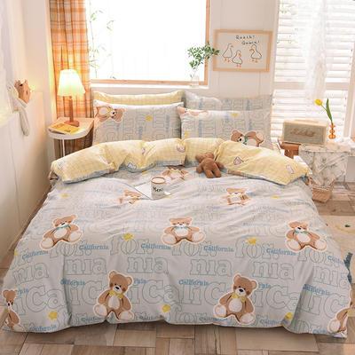 2021新品-13372活性印花四件套 1.5m床单款四件套 熊先生