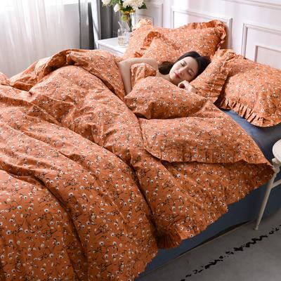 2021新款全棉裙边四件套 1.5m床单款四件套 小雏菊
