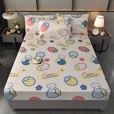 2021-冰丝凉席床笠款三件套 150*200cm三件套 床笠凉席-缤纷水果