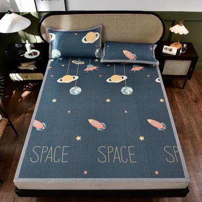 2021数码印花大版凉席 120*200cm二件套 星际空间