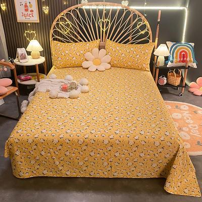 2021新款13372全棉印花床单三件套 160*230cm单床单 春暖花开