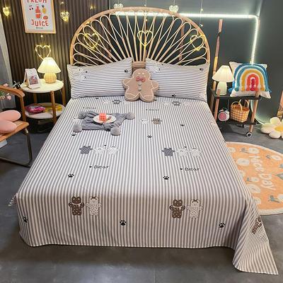 2021新款13372全棉印花床单三件套 160*230cm单床单 杜克熊
