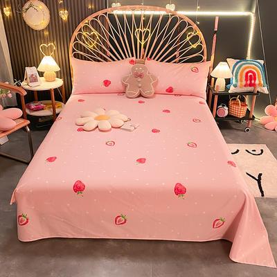 2021新款13372全棉印花床单三件套 160*230cm单床单 莓妮
