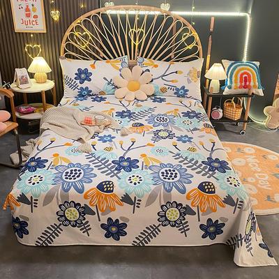 2021新款13372全棉印花床单三件套 160*230cm单床单 陌上花开