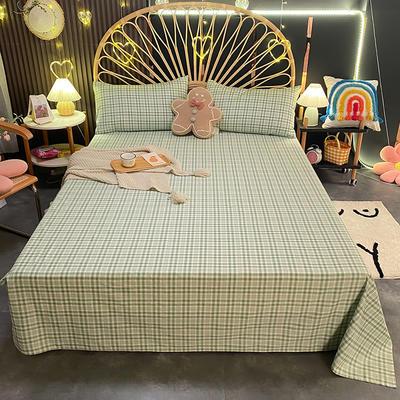 2021新款13372全棉印花床单三件套 160*230cm单床单 水木嫣然