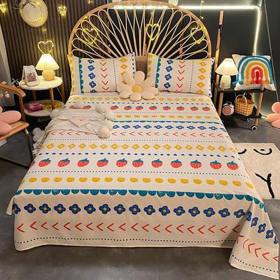 2021新款13372全棉印花床单三件套 160*230cm单床单 硕果累累