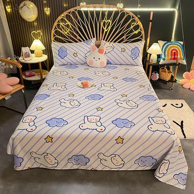 2021新款13372全棉印花床单三件套 160*230cm单床单 顽皮小熊