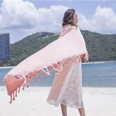 法莱绒多功能空调毯(搓须毯) 不带流苏130*160 粉红玉
