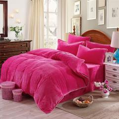 纯色法兰绒 标准1.5m-1.8m床 玫红