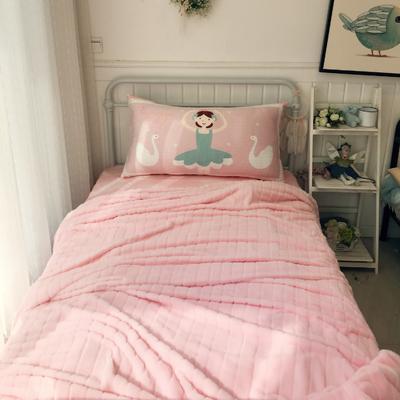 公主风数码印花床头靠垫抱枕 110*60cm 芭蕾舞女孩