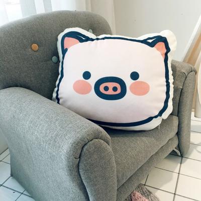 2019新款小猪抱枕 45x38cm 猪猪脸