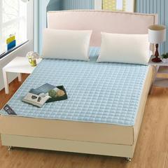 凯曼家纺 新品  纯色磨毛夹棉床垫  加厚夹棉床笠单件防滑床罩床护垫护套 120*200 蓝色