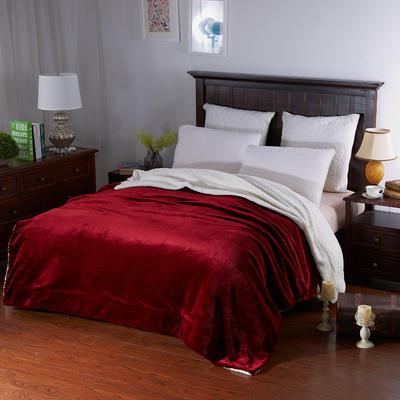 羊羔绒毛毯 100*120cm 西班牙红