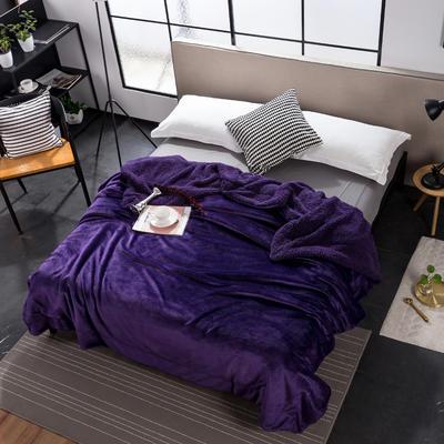 ins潮牌网红双层羊羔绒毛毯 100*120cm 梦幻紫