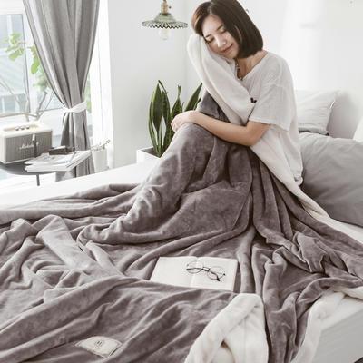 2018新款-北极暖绒双层毛毯 150*200cm 莫斯科灰