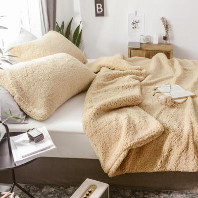 2018新款-羊羔绒多功能单枕套 48*74cm/对标准款 古典驼
