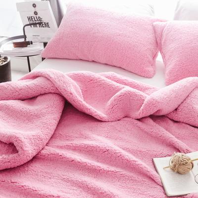 2018新款-羊羔绒多功能单枕套 48*74cm/对标准款 樱花粉
