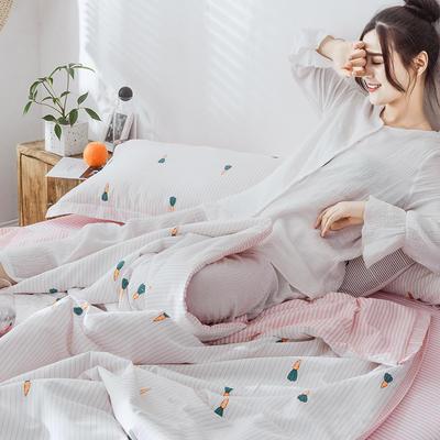 2019新款-全棉夏被多功能四件套 枕套/对 胡萝卜