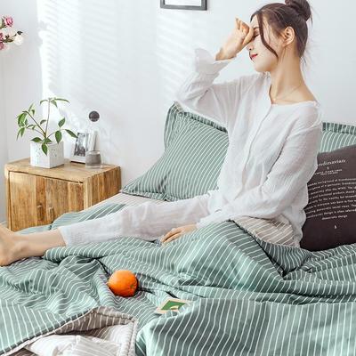 2019新款-全棉夏被多功能四件套 枕套/对 可可绿