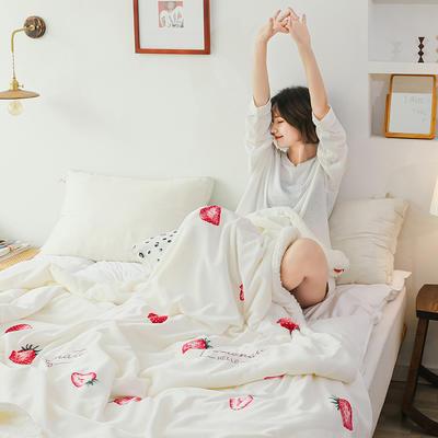 2019网红款印花羊羔绒双层毛毯ins风少女心加厚抗静电牛奶绒毯 150x200cm 一见钟情