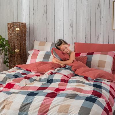 斜纹水洗棉四件套 无印良品风格四件套 斜纹加厚四件套四季适用 标准1.5m-1.8m床 格调时光