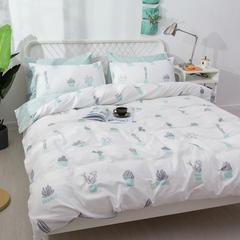 感遇家纺 ins网红素颜纯棉四件套床单被套学生三件套床笠 1.5m(5英尺)床 素颜床单款