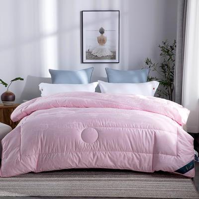 2018新款贡段大提花被 200X230cm6斤 粉色