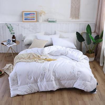 2018新款时尚全棉冬被 200X230cm5斤 木林白