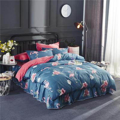 2018款棉加绒床单款四件套 标准1.5m-1.8m床 情迷花海