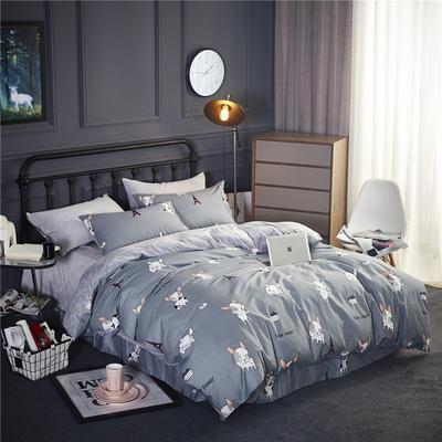 2018款棉加绒床单款四件套 标准1.5m-1.8m床 亲密伙伴