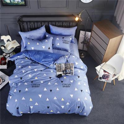 2018款棉加绒床单款四件套 标准1.5m-1.8m床 新款-爱巢