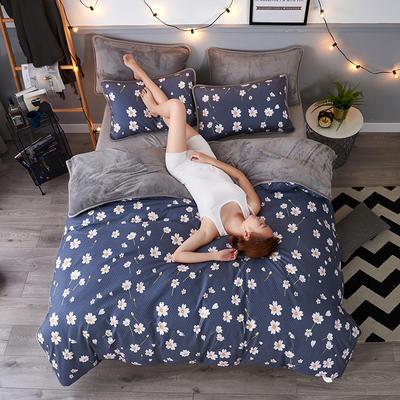 2018 AB款针织棉加绒包边四件套 1.0m/1.2m(4英尺)床 小雏菊