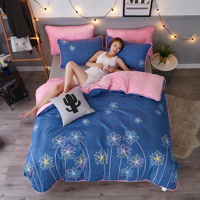 2018 AB款针织棉加绒包边四件套 1.0m/1.2m(4英尺)床 绚丽烟花
