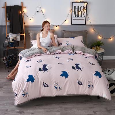 2018新款ab款针织棉加绒单被套 160x210cm 梦幻森林