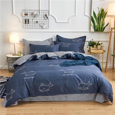 2018新款北欧风格四件套 1.0m-1.2m床 海豚世界