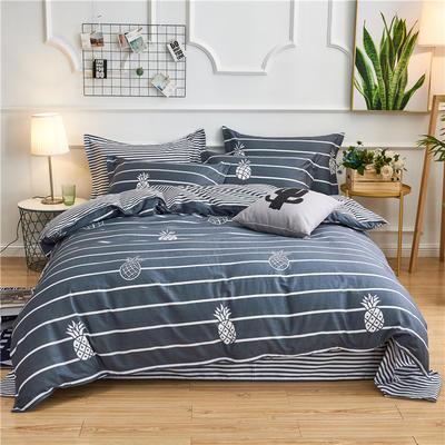 2018新款北欧风格四件套 1.0m-1.2m床 甜心菠萝