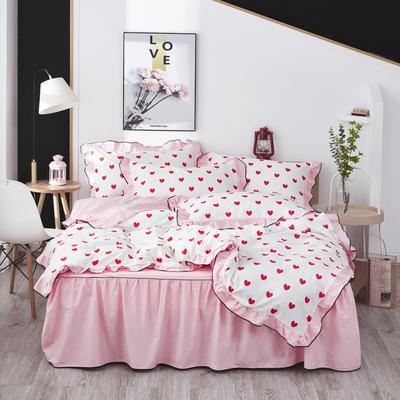 2020款全棉花边四件套床单款床笠款 床单款1.2床 晴空