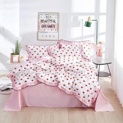 2020款全棉花边四件套床单款床笠款 床单款1.2床 爱之语