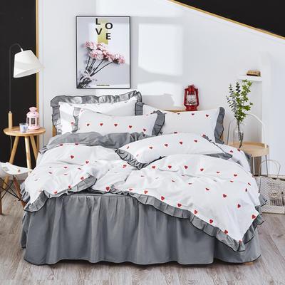 2020款全棉花边四件套床单款床笠款 床单款1.2床 满满爱