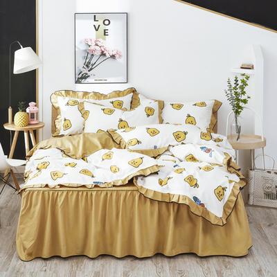 2020款全棉花边四件套床单款床笠款 床单款1.2床 小黄鸭