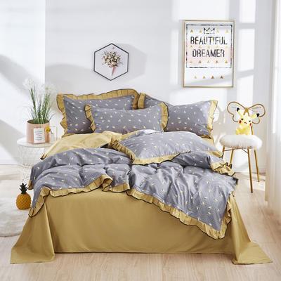 2020款全棉花边四件套床单款床笠款 床单款1.2床 小蜜蜂