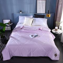 60支莫代尔天丝夏凉被单人双人空调被芯可机洗薄被子夏被 220*240cm3.8斤 浅紫