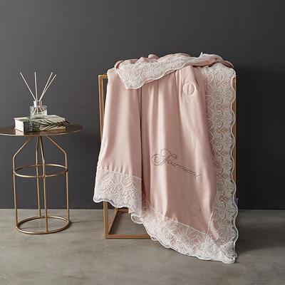 60支天丝夏凉被双人空调被夏季双面可水洗蕾丝花边薄被子 150x200cm 法式-香槟色