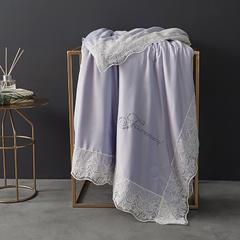法式蕾丝夏被薄被子天丝莫代尔裸睡双人空调被夏凉被可水洗夏季 200X230cm 法式-香芋紫