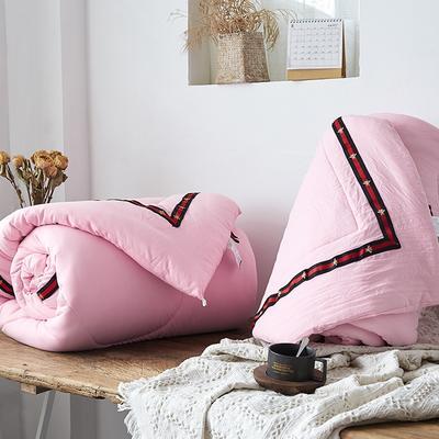 水洗棉被子二合一子母被冬被双人春秋被褥加厚单人学生双胎被芯 150x200子母被4斤+4斤 小蜜蜂-粉色