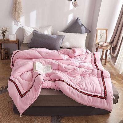 2019水洗棉冬被水洗棉被单双人被芯被褥春秋被空调被加厚保暖被子 150x200cm(6斤) 粉色