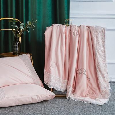 2019新款法式天丝夏凉被蕾丝空调被芯欧式烫钻莱赛尔夏被 220x240cm 香槟色