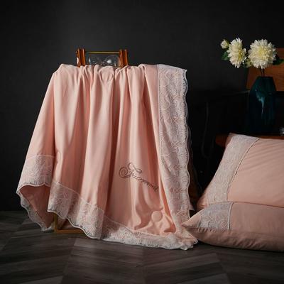 2019新款莱赛尔天丝夏被法式蕾丝空调被亮钻公主夏凉被三件套 220x240cm 法式【香槟】