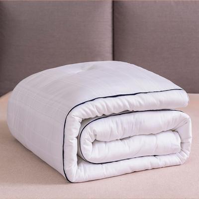 被芯冬被纯棉杜邦纤维被子加厚保暖棉被全棉杜邦生物丝冬被 200X230cm重约8斤 酒店被-白